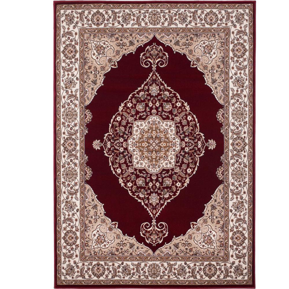 Home Dynamix Bazaar Emy Red Ivory 8 Ft X 10 Area Rug