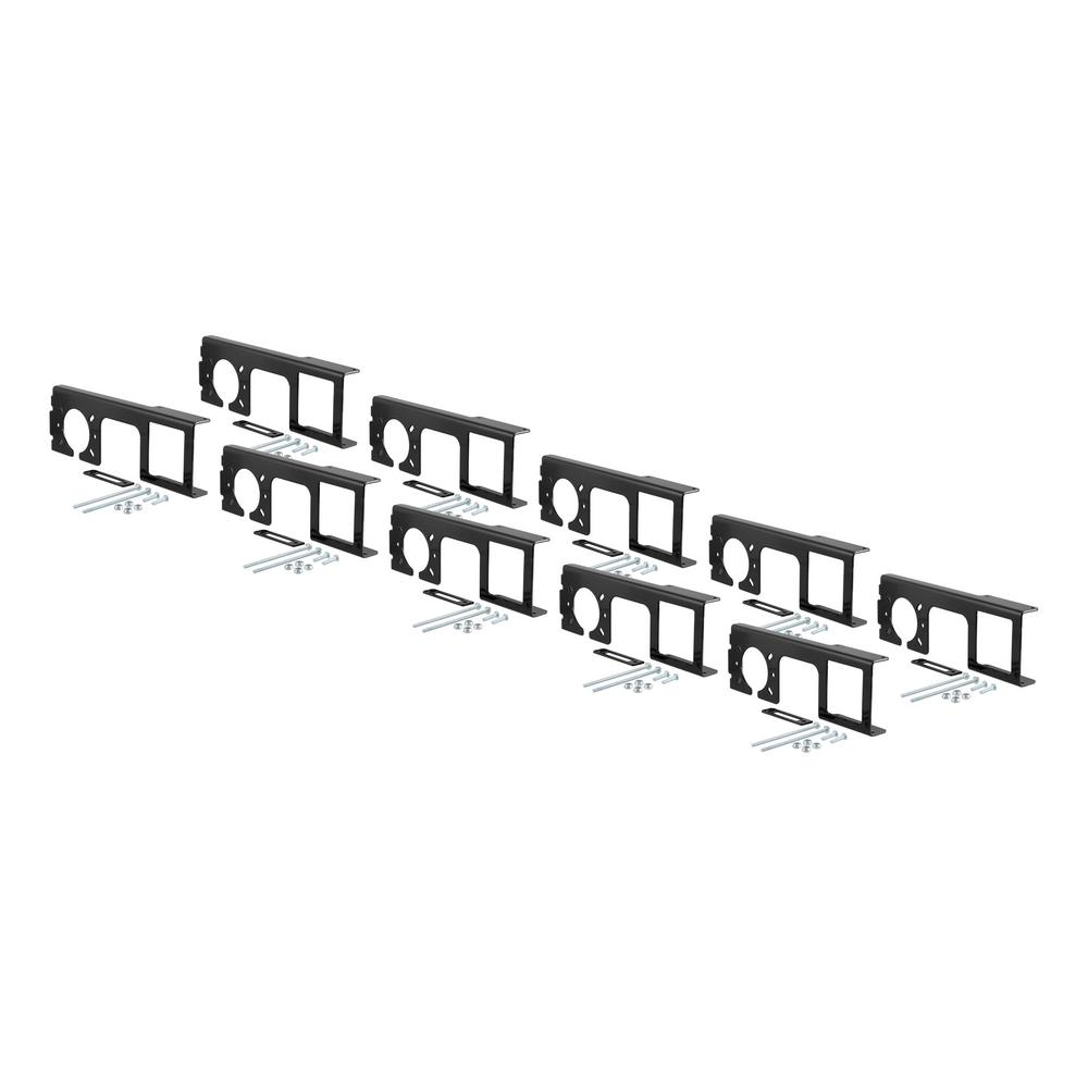 curt easy-mount brackets for 4 or 5-flat  u0026 6 or 7-round  2 u0026quot  receiver  10-pack -58000010