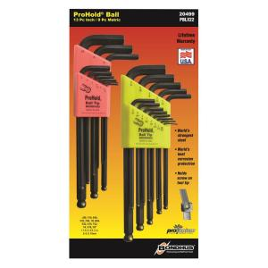 Bondhus Standard and Metric ProHold Ball End L-Wrench Sets (22-Piece) by Bondhus
