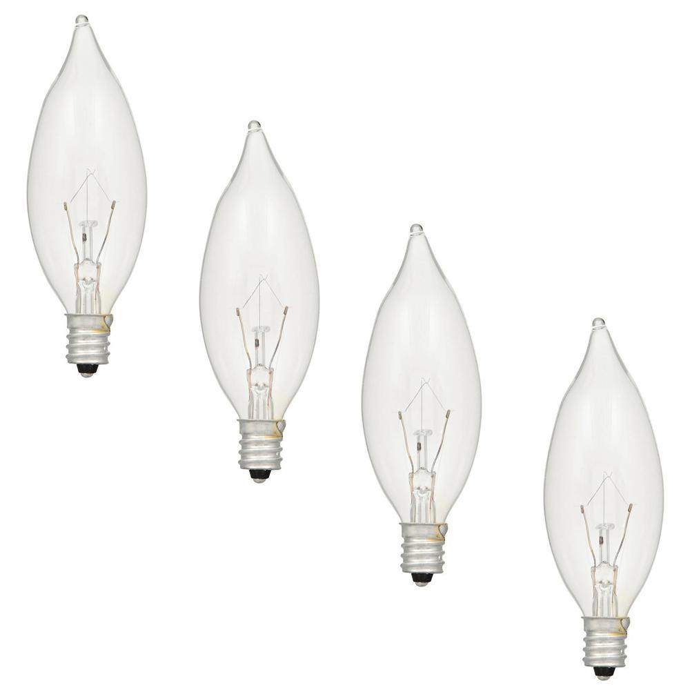 60-Watt Double Life B10 Incandescent Light Bulb (4-Pack)
