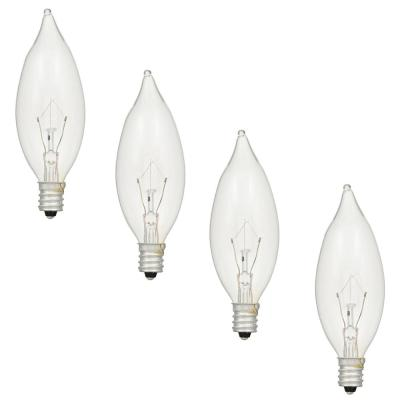 60-Watt Double Life B10 Incandescent Light Bulb (4-Pack)