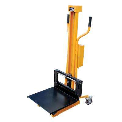 330 lb. Capacity 23 in. x 59 in. Portable Hand Winch Lifter
