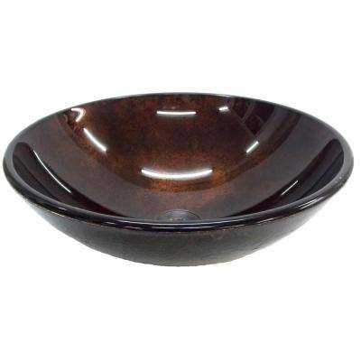 Reflections Vessel Sink in Red Copper with Pop-Up Drain and Mounting Ring in Oil Rubbed Bronze