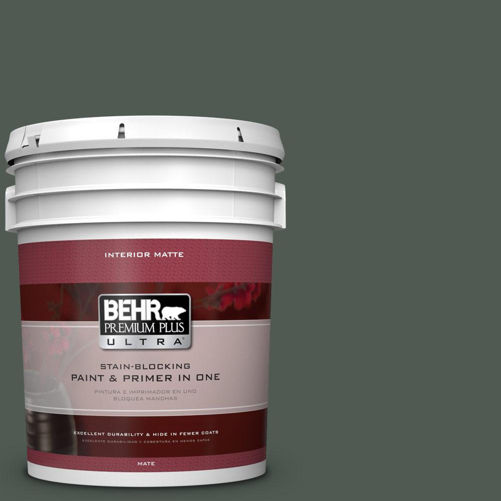 BEHR Premium Plus Ultra 5 gal. #N420-7 Alpine Trail Matte Interior Paint