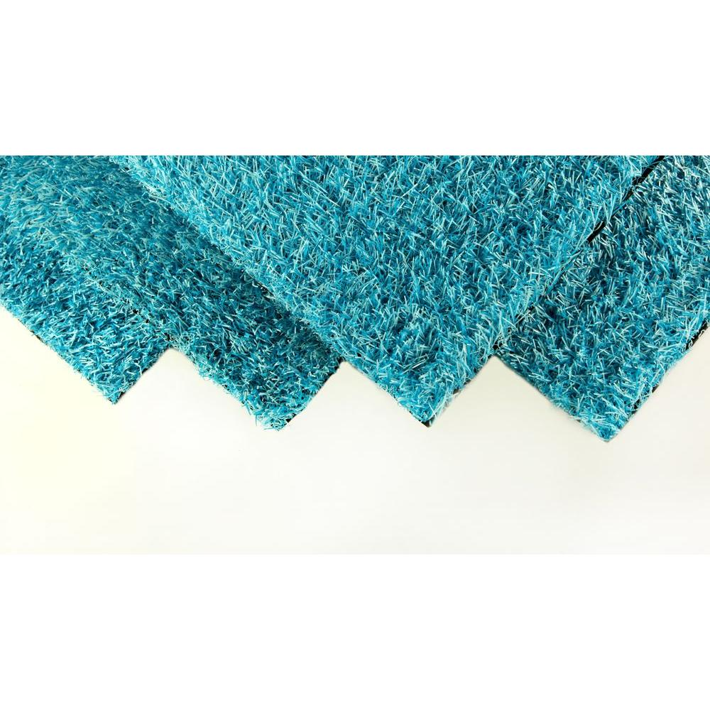 GREENLINE Caribbean Blue 4 ft. x 6 ft. Artificial Grass Synthetic ...