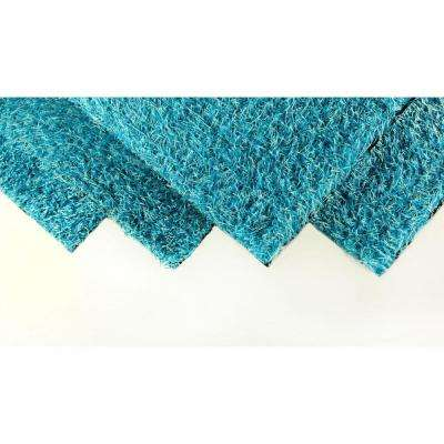 Caribbean Blue 4 ft. x 6 ft. Artificial Grass Synthetic Lawn Turf Indoor/Outdoor Carpet