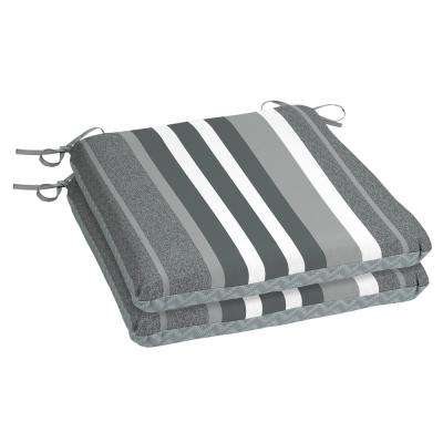 Petersburg Stripe Square Outdoor Seat Cushion (2-Pack)