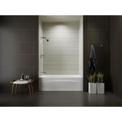 Choreograph 32 in. x 60 in. x 72 in. Bath and Shower Stall with Left Hand Drain Tub in VeinCut Dune