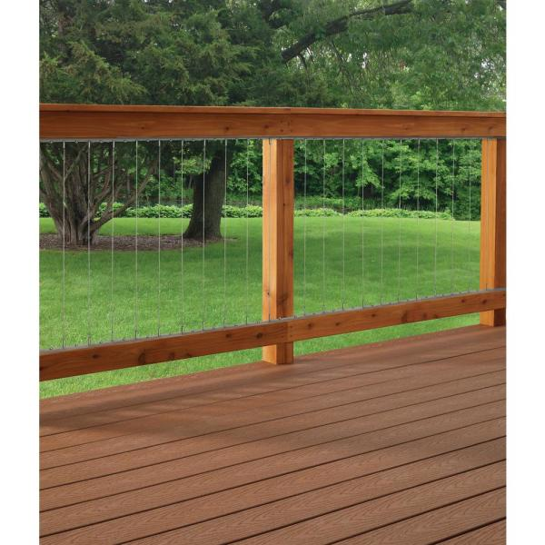 Vertical Stainless Steel Cable Railing Kit for 42 in. High Railings