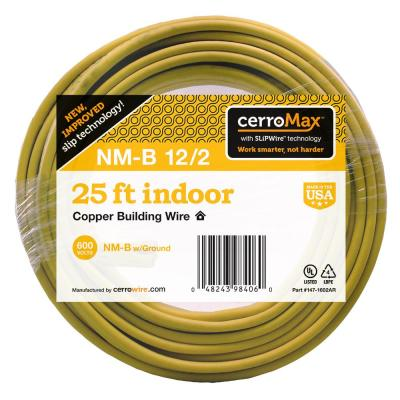 25 ft. 12/2 NM-B Wire, Yellow