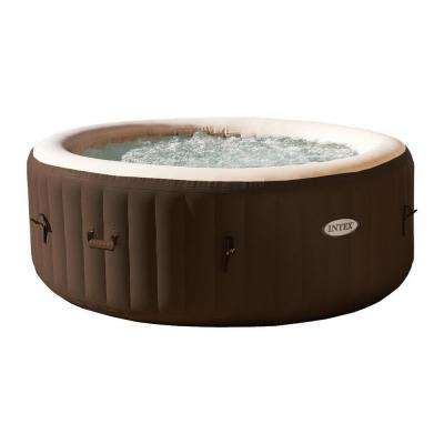 PureSpa 4-Person Inflatable Bubble Jet Portable Hot Tub, Brown (2-Pack)