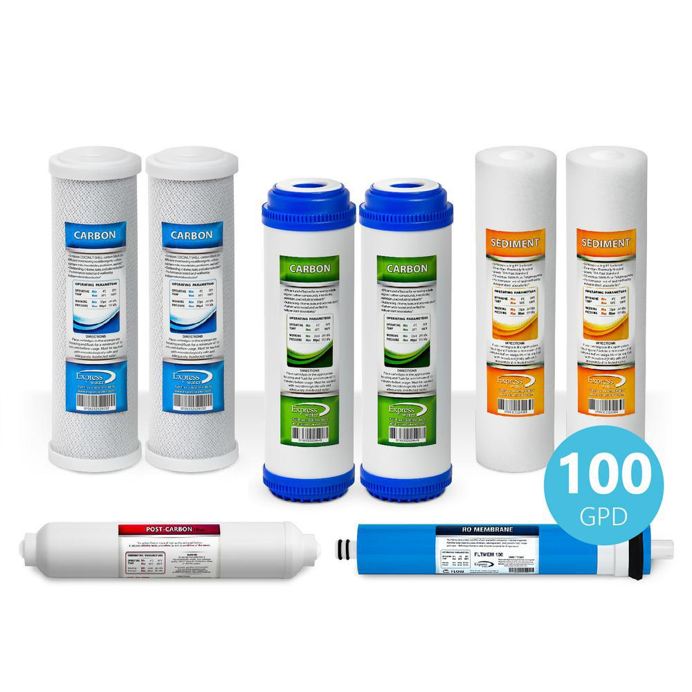 1 Year Reverse Osmosis Filter Set - 8 Filters w/ 100