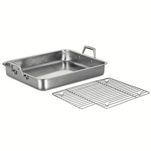 Click here to buy Tramontina Gourmet Prima 9.5 Qt. Stainless Steel Roasting Pan by Tramontina.