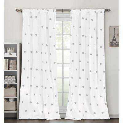 Dottie White Blackout Pole Top Panel Pair - 38 in. W x 84 in. L in (2-Piece)