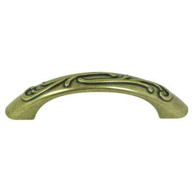 Ivy 3 in. Center-to-Center Antique Brass Arch Cabinet Pull (10-Pack)