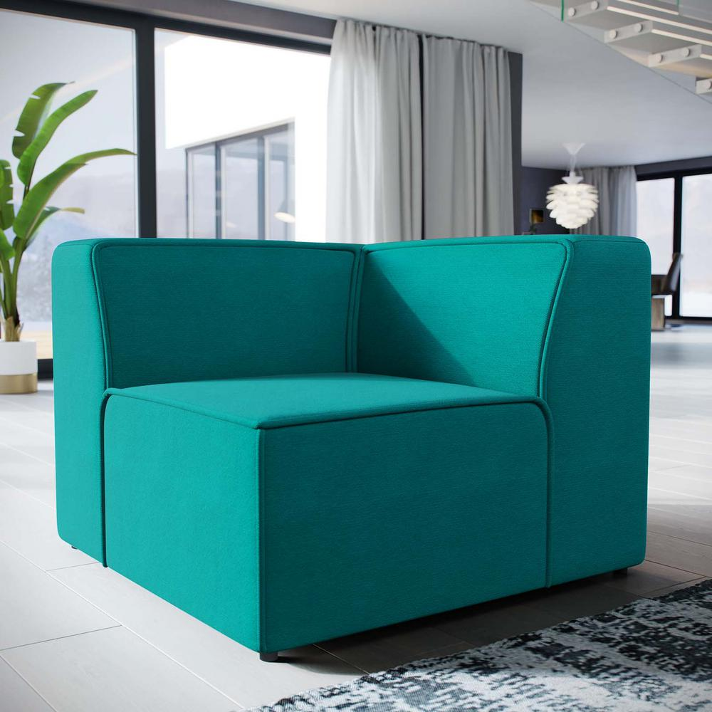 Modway Mingle Teal Corner Sofa