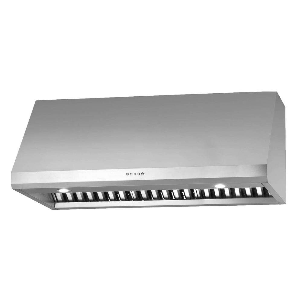 Ancona Pro Uc Led 36 In Under Cabinet Range Hood Stainless Steel An 1243 The Home Depot