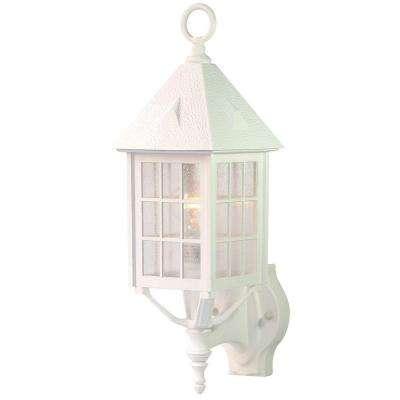 Outer Banks Collection 1-Light Textured White Outdoor Wall-Mount Fixture