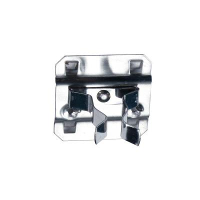 Extended Spring Clip Hold Range 1 in. - 2 in. Stainless Steel LocBoard Hooks (3-Pack)