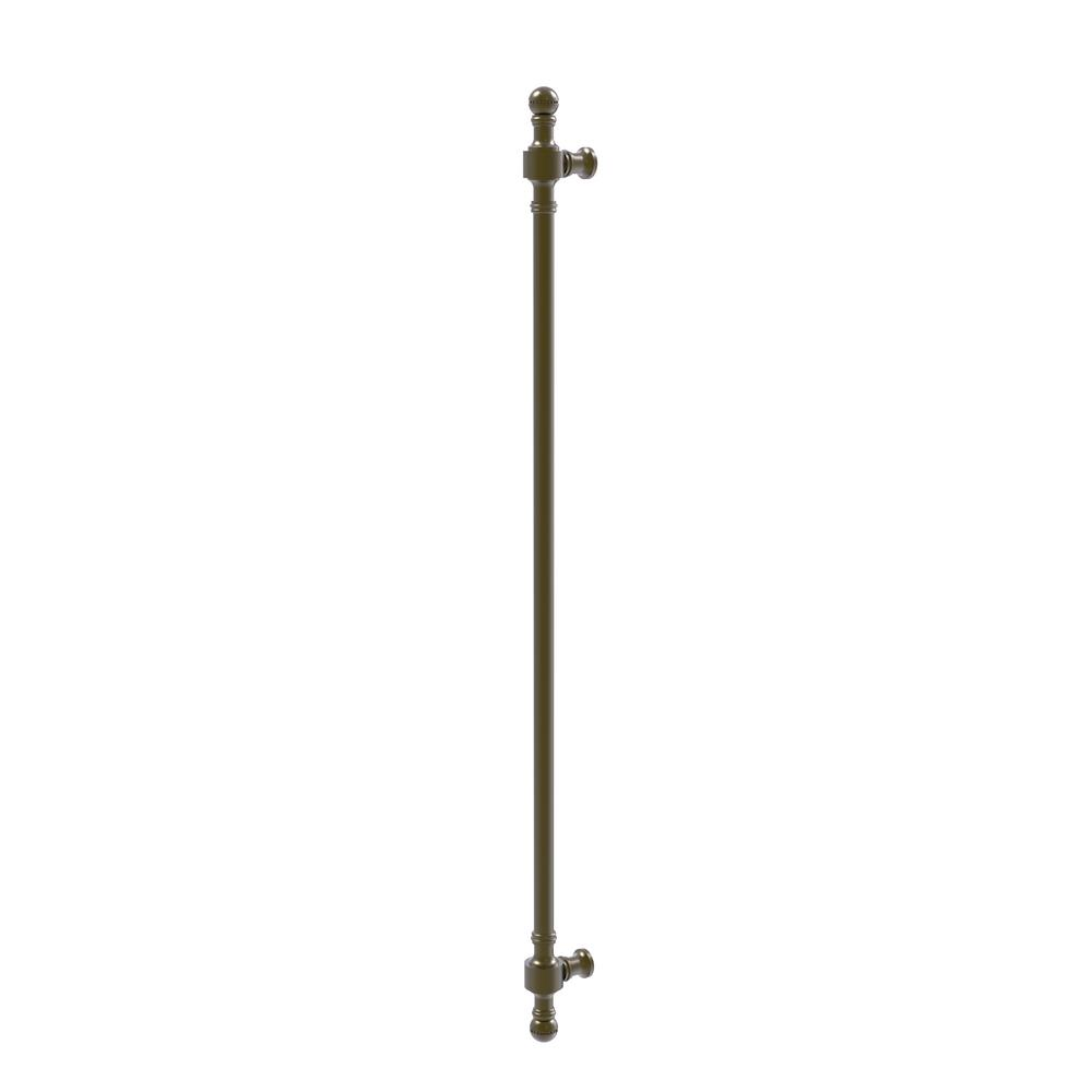 Retro Dot Collection 18 in. Beaded Refrigerator Pull in Antique Brass