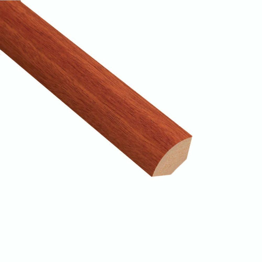 Home Legend High Gloss Santos Mahogany 19.5 in. Thick x 3/4 in. Wide x 94 in. Length Laminate Quarter Round Molding