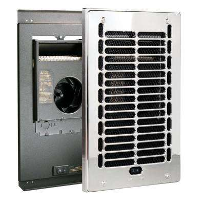 RBF Series 1000-Watt 120-Volt Electric Fan-Forced In-Wall Bath Heater Chrome