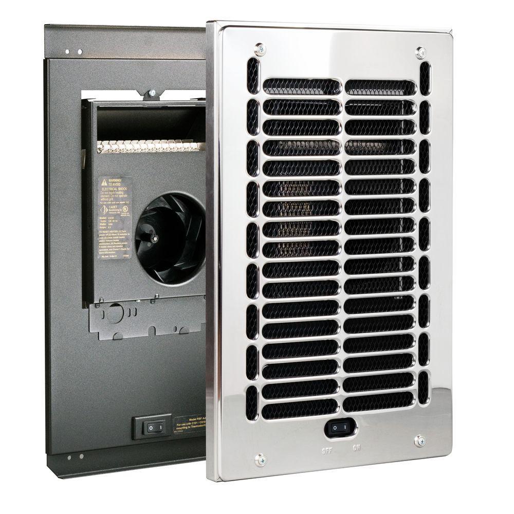 RBF Series 1000-Watt 120-Volt Electric Fan-Forced In-Wall Bath Heater Chrome