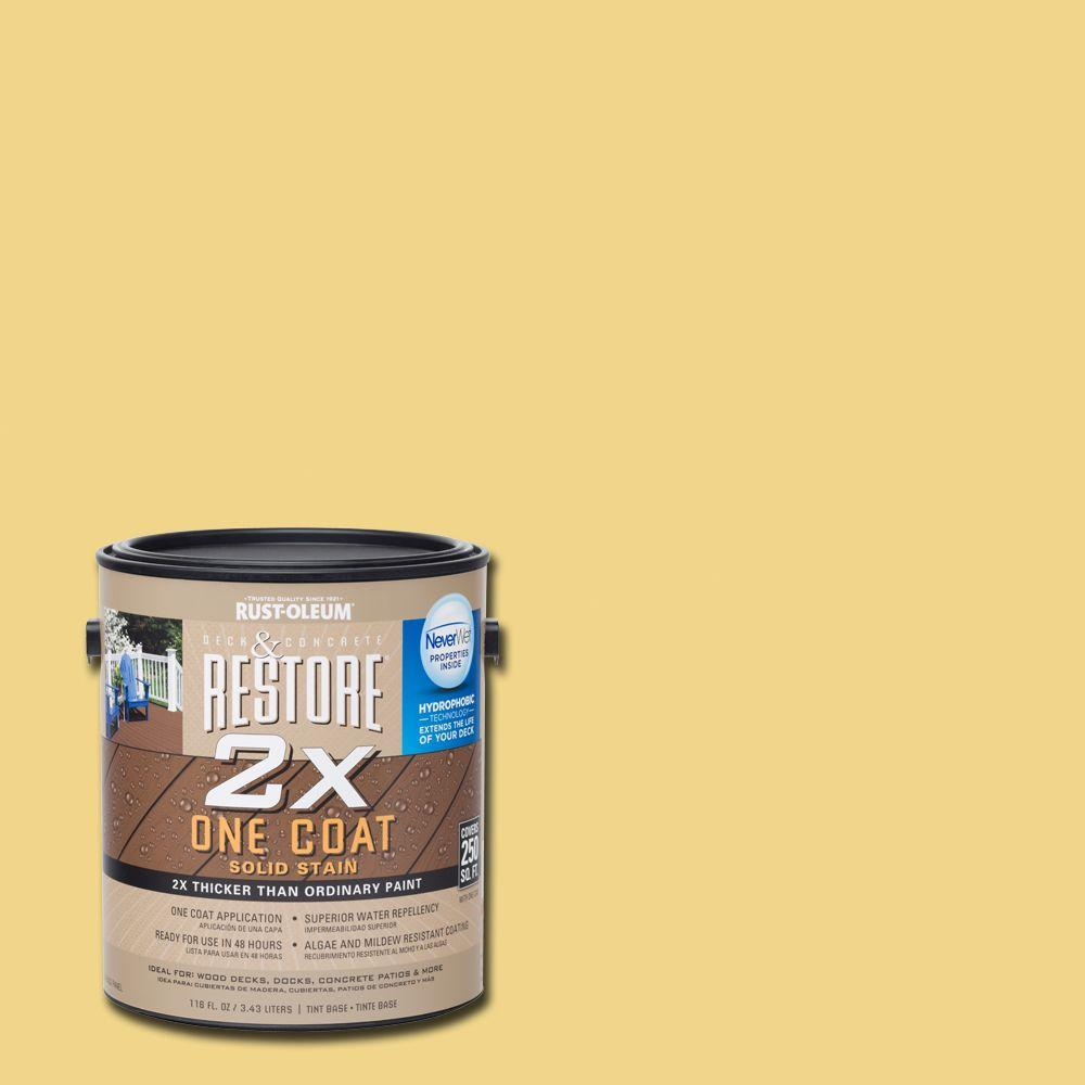 Rust-Oleum Restore 1 gal. 2X Maize Solid Deck Stain with NeverWet