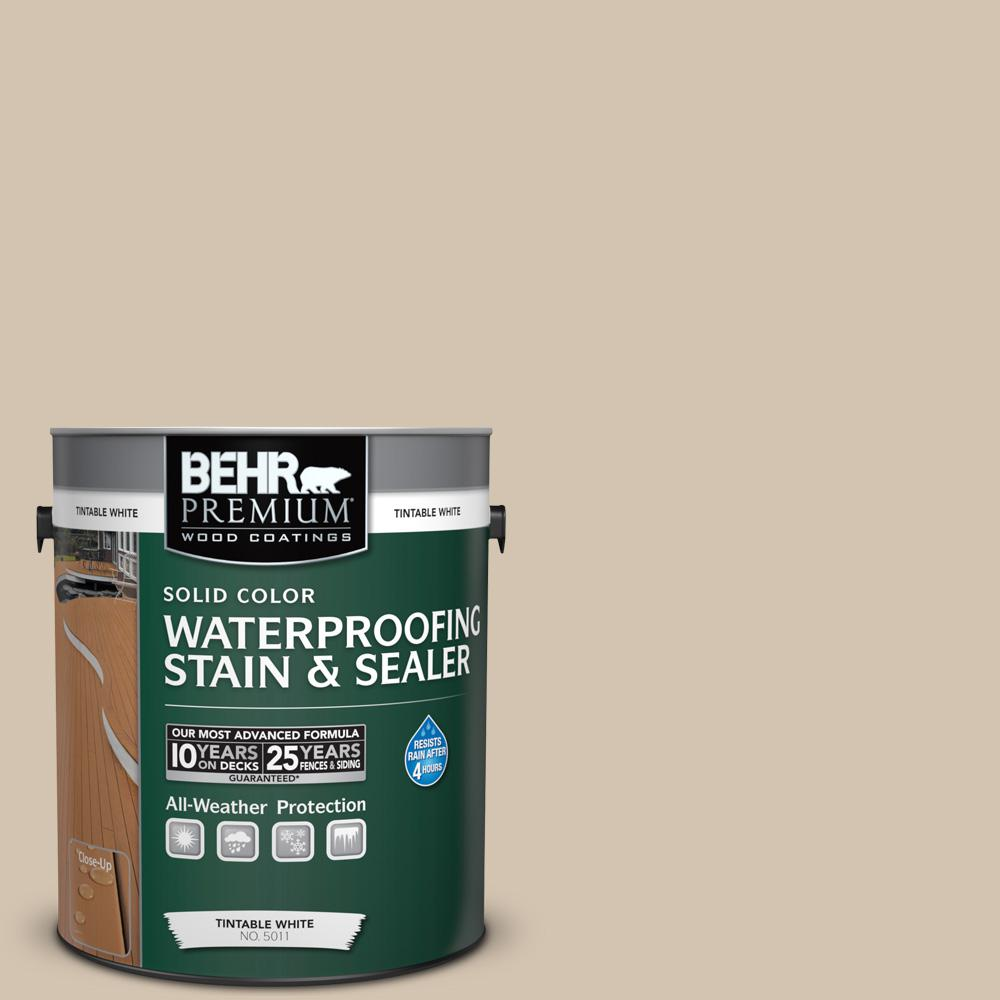 1 gal. #N300-3 Casual Khaki Solid Color Waterproofing Exterior Wood Stain