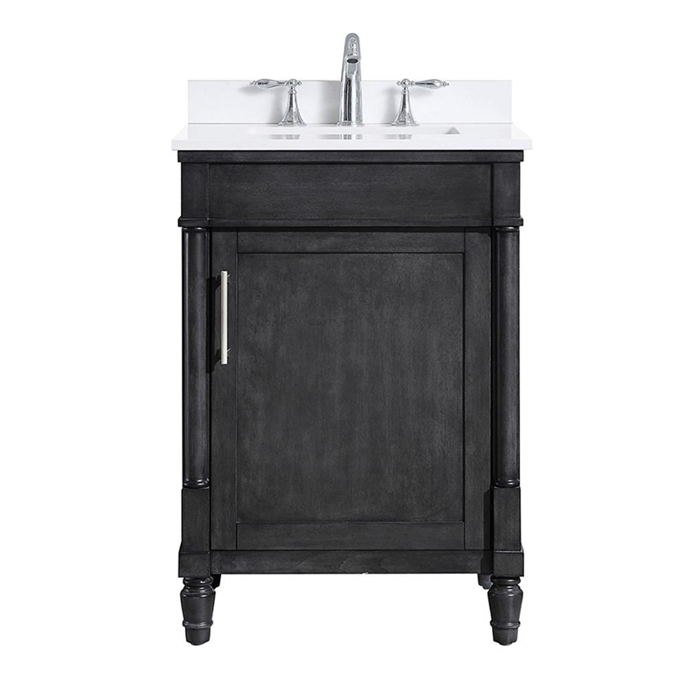 Ove Decors Layla 24 In W X 22 In D Vanity In Iron Grey