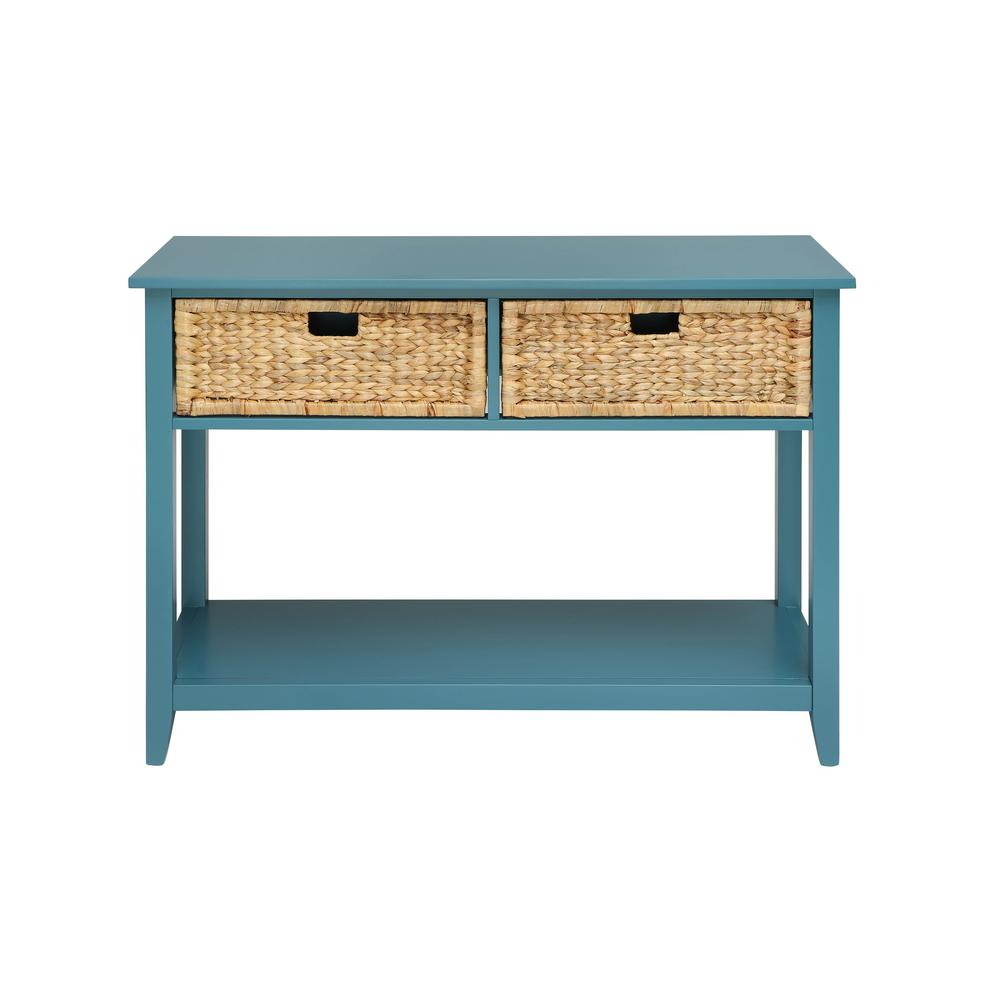 Beau ACME Furniture Flavius Console Table In Teal
