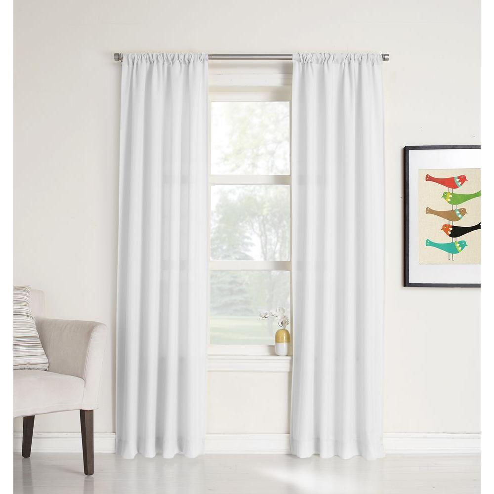 No. 918 Millenial Ryan Heathered Texture Sheer Curtain Panel