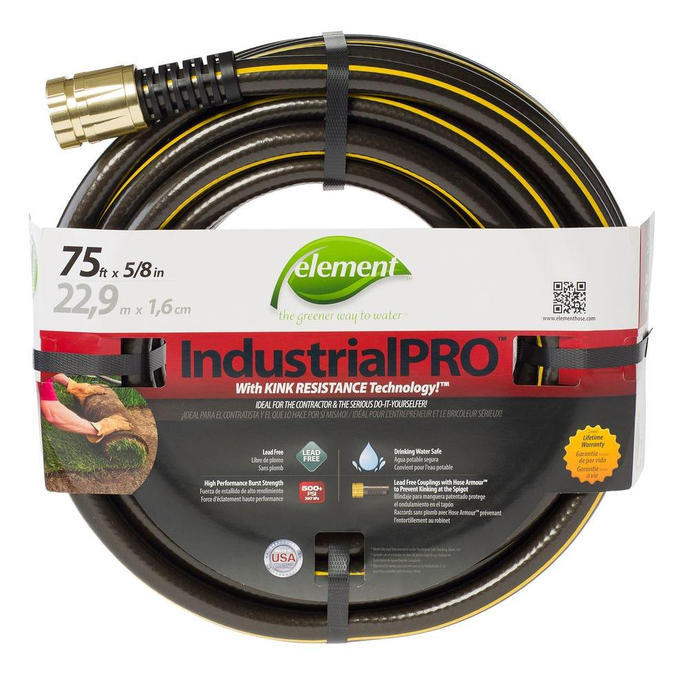 ZillaGreen Garden Hose With 3/4 In. GHT Ends HFZG5100YW   The Home Depot
