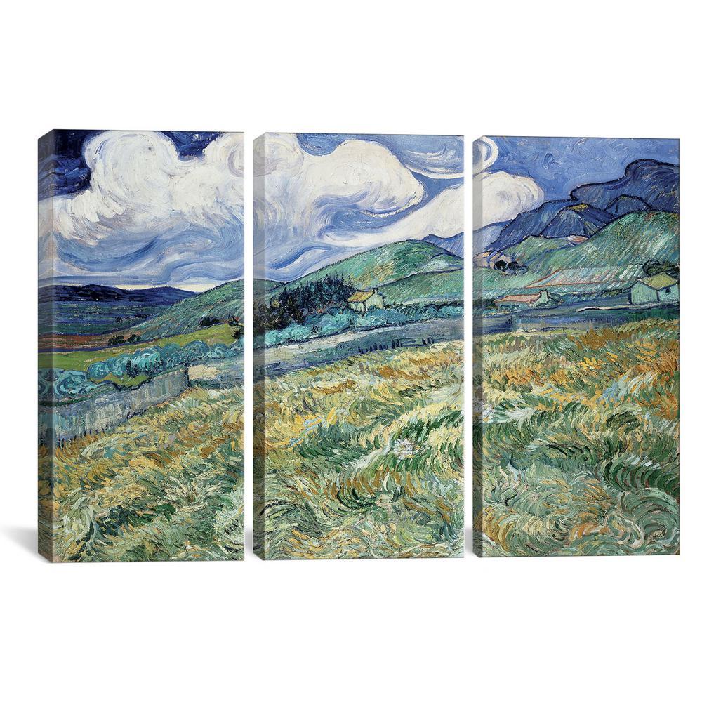 Landscape at Saint-Remy by Vincent van Gogh Canvas Wall Art