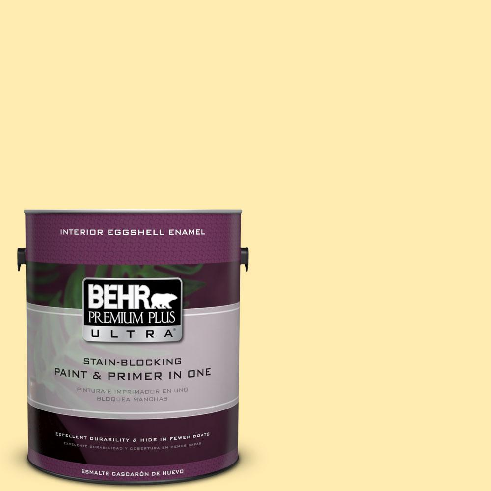 1 gal. #360A-3 Banana Split Eggshell Enamel Interior Paint and Primer