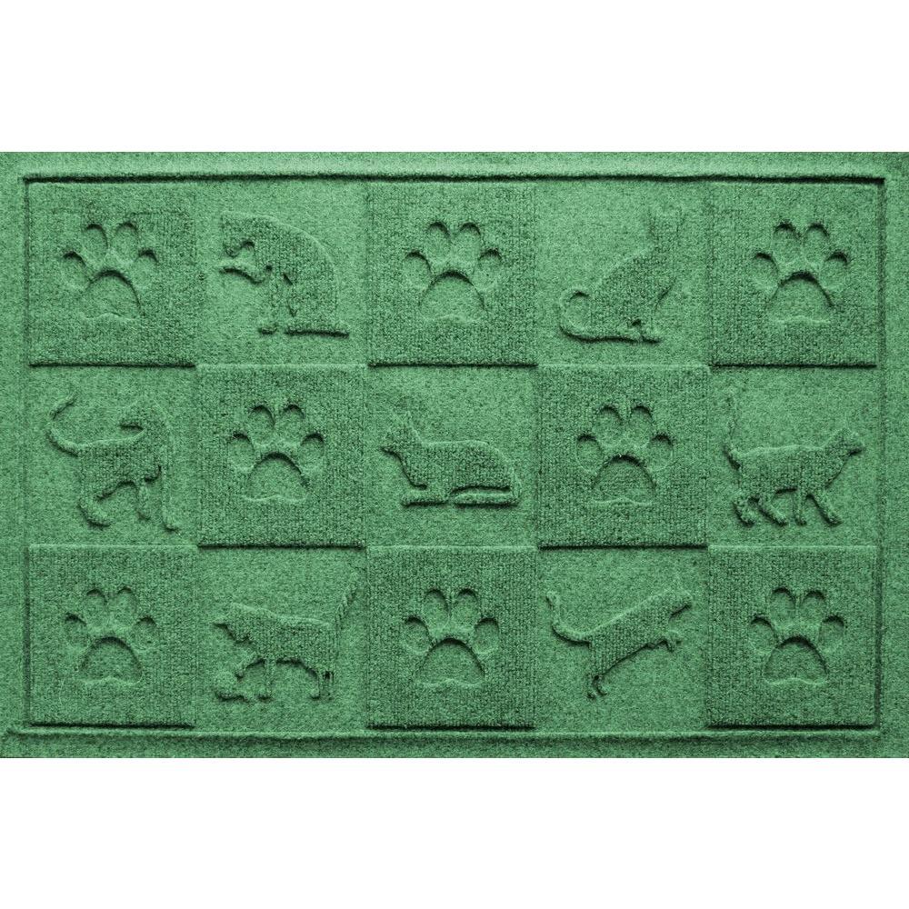 Light Green 24 in. x 36 in. Cat in the Mat Pet Mat