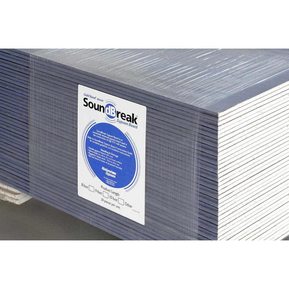 Gold Bond 5/8 in  x 4 ft  x 8 ft  Noise Reducing Gypsum Board