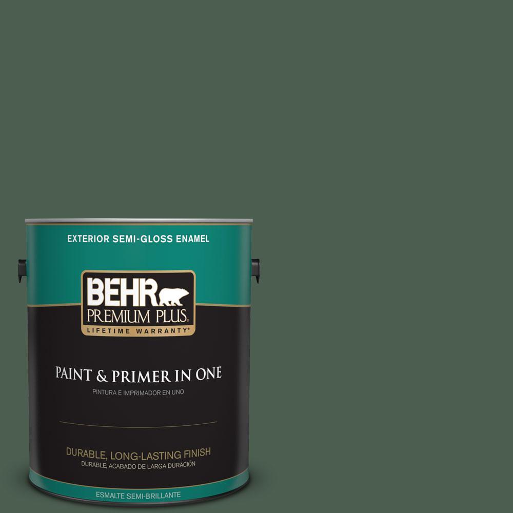 1-gal. #450F-7 Hampton Green Semi-Gloss Enamel Exterior Paint