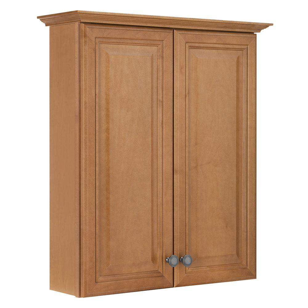 maple bathroom wall cabinet american classics cambria 25 1 2 in w x 29 in h x 7 1 2 23031