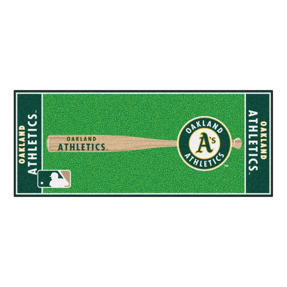 Fanmats Oakland Athletics 2 Ft 6 In X 6 Ft Baseball