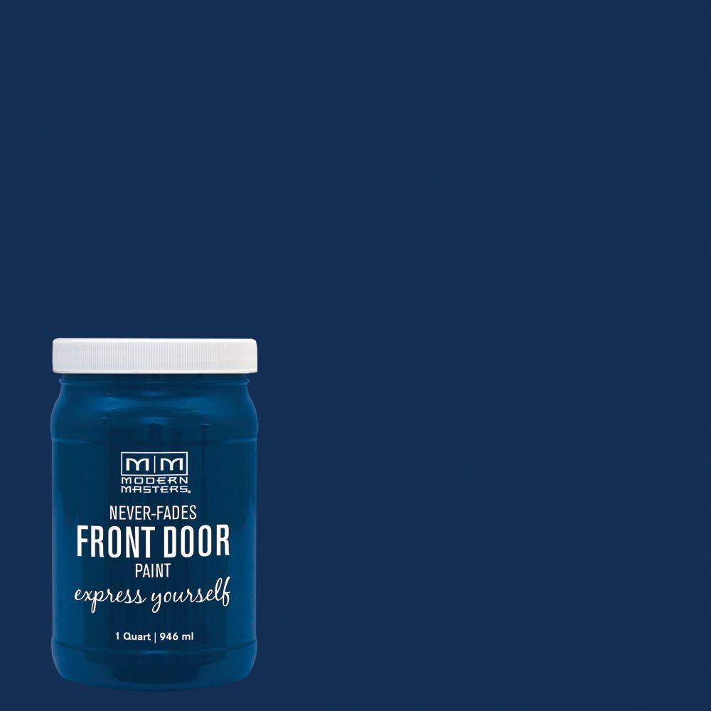 Express Yourself 1 qt. Satin Serene Front Door Paint