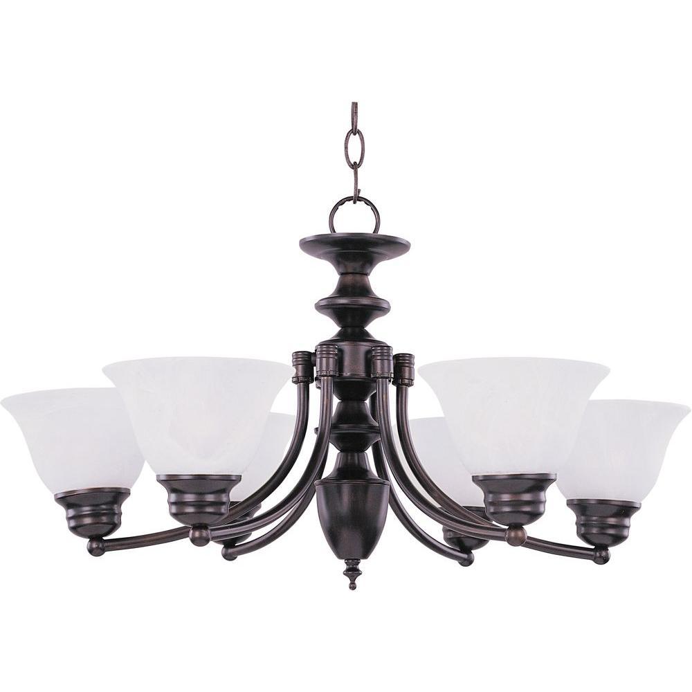 Maxim Lighting Malaga 6-Light Oil-Rubbed Bronze Chandelier