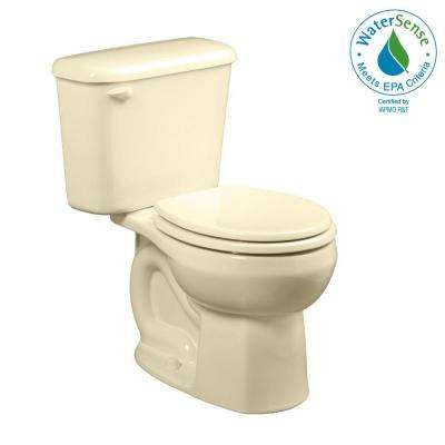 Colony 10 in. Rough-In 2-piece 1.28 GPF Single Flush Round Toilet in Bone, Seat Not Included