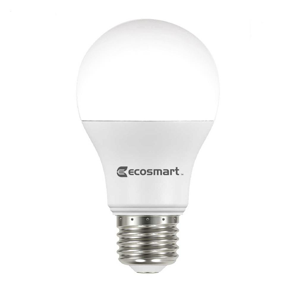 60W Equivalent Soft White A19 Basic Non-Dimmable LED Light Bulb (4-Pack)