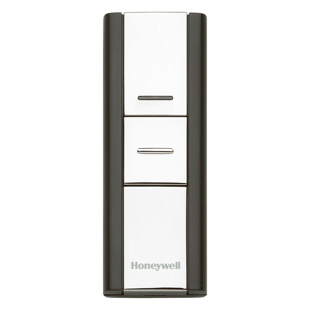 Honeywell Add-on or Replacement Push Button, Silver/Black, Compatible with 300 Series and Decor Door Chimes