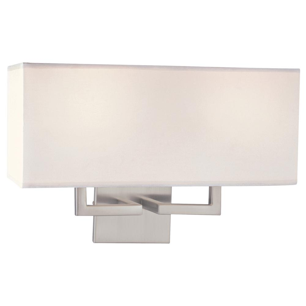George Kovacs 2-Light Brushed Nickel Wall Sconce