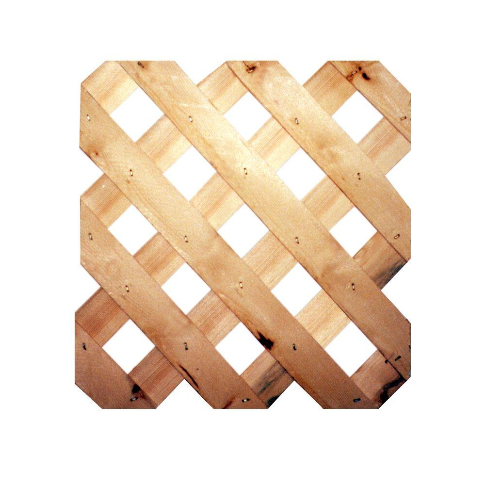 3/4 in. x 48 in. x 8 ft. Cedar Architectural Lattice