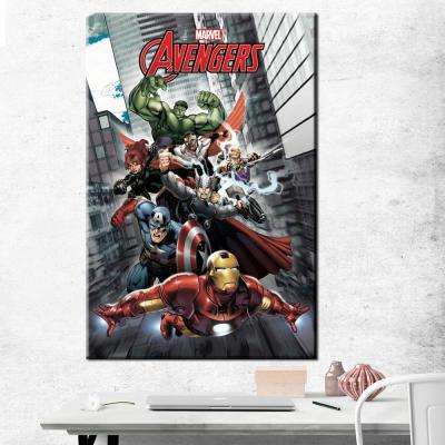 24 in. x 36 in. Avengers - Avengers Assemble Printed Canvas Wall Art