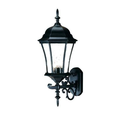 Brynmawr Collection 3-Light Matte Black Outdoor Wall Lantern Sconce