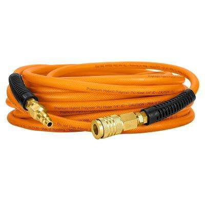 1/4 in. x 50 ft. PU Polymer Hybrid Air Hose with NPT Fittings
